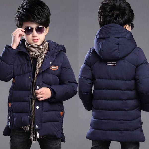 2019 Boys Coats And Jackets Size 5 6 7 8 9 10 11t Age Heavyweight Husky Winter Autumn Fall Clothing Thickening Hood Wool Zipper