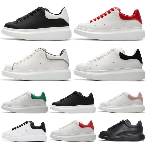 Acquista Alexander Mcqueens Top Fashion Scarpe Eleganti Presto Pelle Nero Bianco 3M Riflettenti Scarpe Da Ginnastica Triple S Top 1s 270 Verde Scarpe