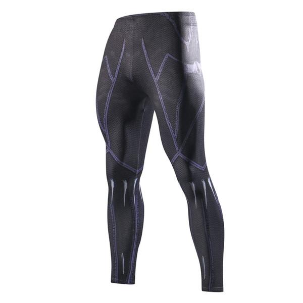 I più nuovi pantaloni di compressione della pantera nera stampati 3D Uomini di marca Leggings di Crossfit Gli uomini Pantaloni attillati casuali Pantaloni di fitness