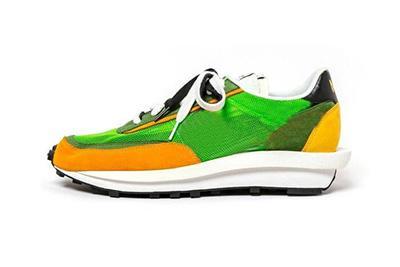 2019 мужские и женские кроссовки Кроссовки с коробкой вафли Рассвет дизайнерская обувь Bv0073-400 Bv0073-300 размер US5.5-12 Черный Серый