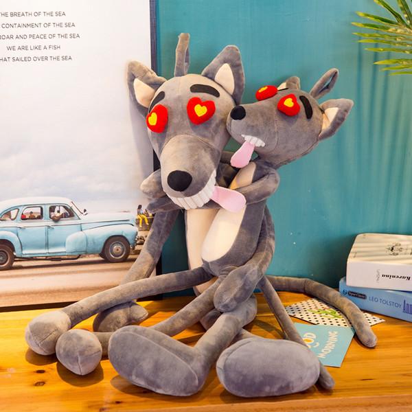 Paródia criativa lobo travesso criativo boneca de brinquedo de pelúcia boneca dos desenhos animados 396 mascote