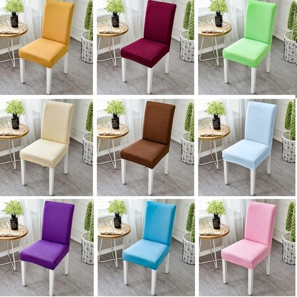 Newest High Elastic Chair Cover Restaurant Hotel Wedding Dining Room Chair Cover Home Decors Seat Covers Spandex Stretch Banquet I383