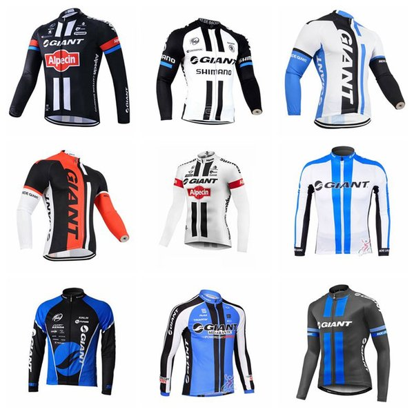 06b8bccd GIANT Team Cycling Long Sleeves Jersey New Hot 2019 New Arrivals Bike  Clothes Multiple Choices Simple Men U41141 Womens Cycling Jerseys Best  Shirts ...