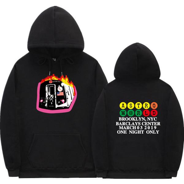hombre de la moda sudaderas Fleece diseñador Travis Scott suéter con capucha letra de la impresión streetwear hombre y la mujer sudadera pulover HDMS481