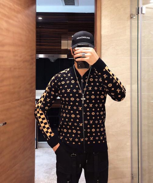 Nouveau Gilet Hommes Gilets Pulls Pulls Zipper chauds à capuche en laine sweat-shirt capuche décontracté pour l'automne hiver 2019