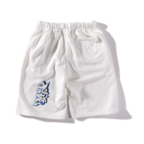 Marca de luxo off calças curtas calças dos homens moda feminina graffiti esporte basculador casual streetwear sweatpants calças curtas ao ar livre