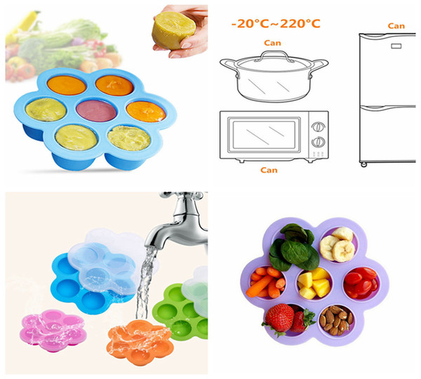 21*21*4.5cm Silicone Egg Bite Mold Baby Food Storage Container Fruit Ice Cube Ice Cream Maker Kitchen Bar Drinking Tools DDA250