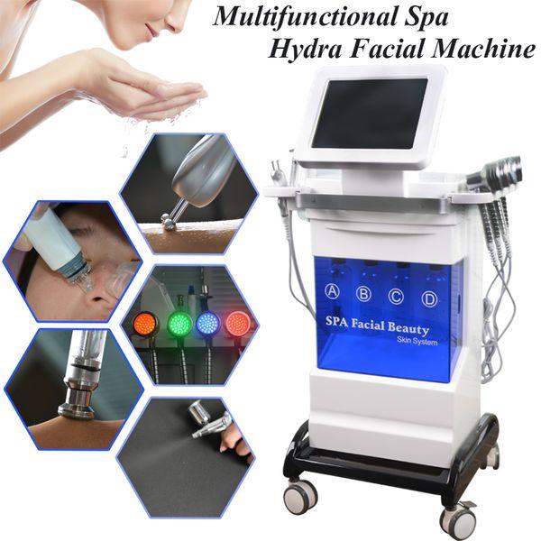 Free shipping hydro dermabrasion machine diamond microdermabrasion peel PDT skin care oxygen spray mist gun BIO microcurrent wrinkle removal