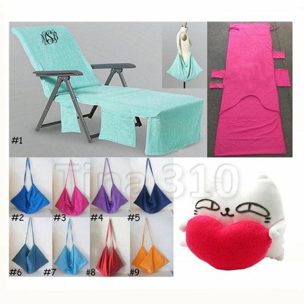 Горячая 215 * 75 СМ Пляжный стул охватывает летняя вечеринка двойной бархат шезлонг Чехлы на стулья пляжный стул полотенце Подушка T2I5096