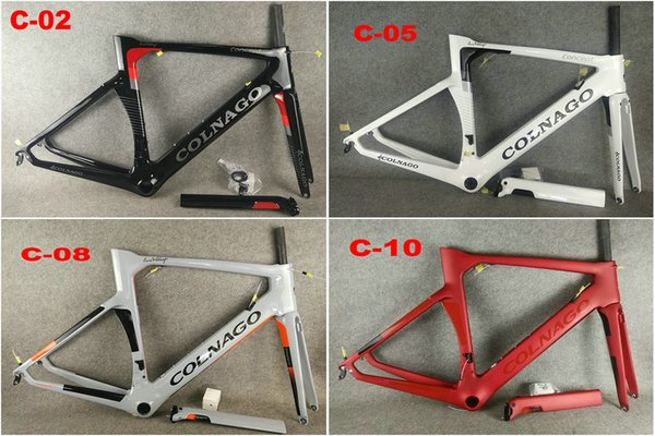14 COLORS Colnago Carbon Road Frame full carbon fiber bicycle frame with BB386 Frame XXS/XS/S/M/L/XL