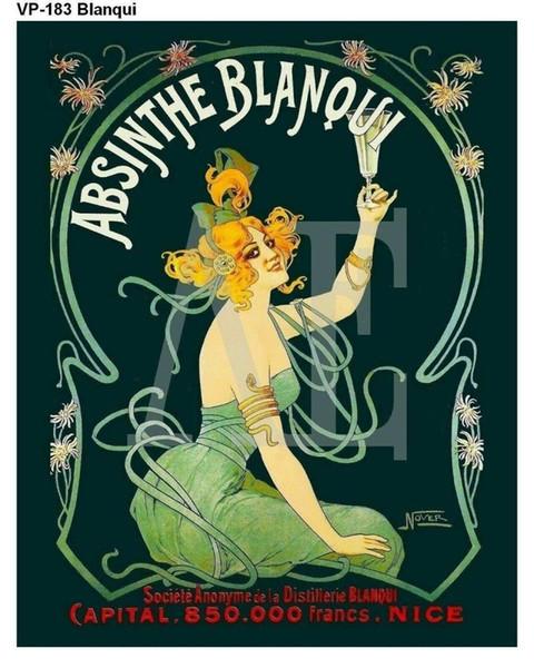 N2125 Absinthe Blanqui Nouveau Lady Yeşil Elbise Duvar Sticker İpek Kumaş Poster Sanat Kapalı Dekor Parlak