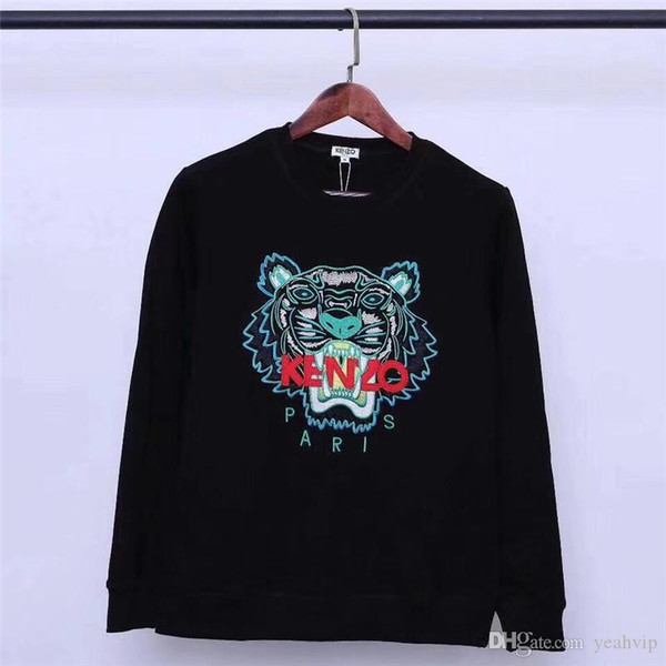 Embroidery tiger head sweater X0
