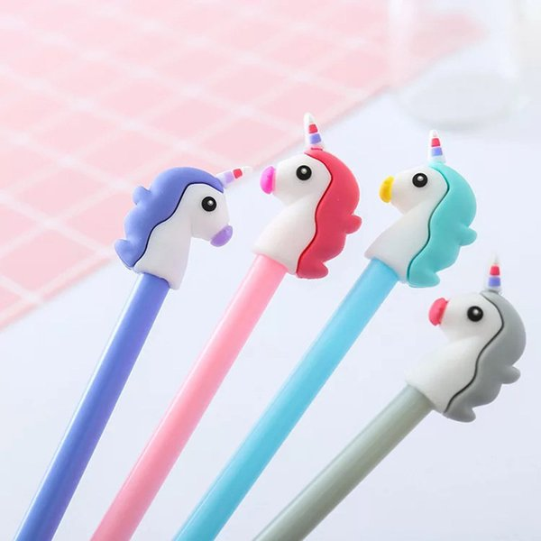 best selling Bring Lucky Unicorn Mini Sucker Cap Funny Creative Animal Toy Kids Pencil Topper Decor Model Gifts