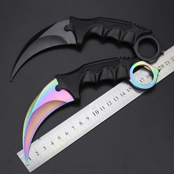 best selling Hot Selling CSGO Counter Strike Karambit Knife with Sheath Outdoor Hunting Survival Fighting Knife Camping Tool Christmas Gift for Man