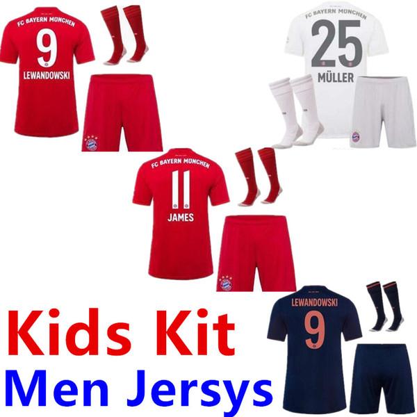 Coutinho 19 20 Bayern Munich PERISIC Maillot de football 2019 2020 jersey LEWANDOWSKI HERNANDEZ Mens football chemise MUNCHEN ENFANTS Kit ENSEMBLES