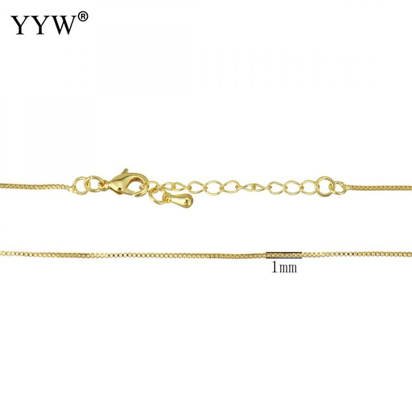 10Strands/Lot 2018 New Gold/Silver Plated Necklace with Adjustable Chain for necklace jewelry making finding 16Inch