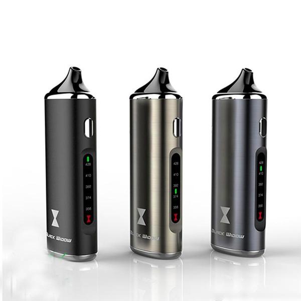 Kit vaporizzatore 100% originale Kingtons Black Widow Dry Herb 2200mah Vape Batteria 3 in 1 Kit erbe con elemento riscaldante in ceramica Sigaretta elettronica