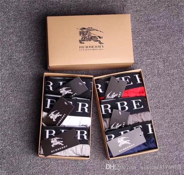 Designer de marca de roupas íntimas masculinas da moda Shorts permeáveis ao ar Moda masculina sexy underwear grande roupa interior legal permeável ao ar B6