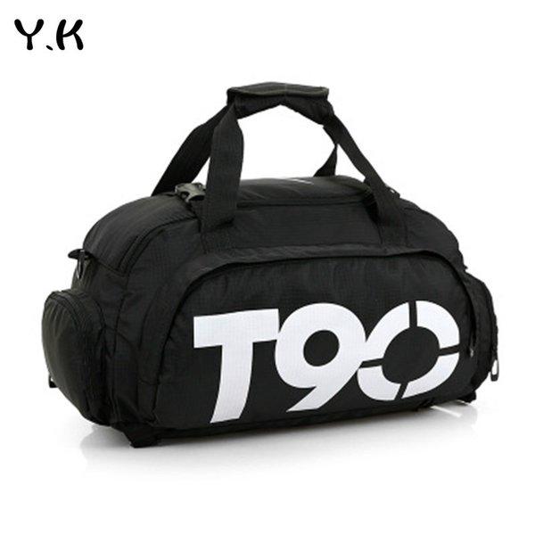 Y. K фитнес тренажерный зал спортивные сумки мужчины и женщины водонепроницаемый спортивная сумка отдельное пространство для обуви мешок многофункциональный мешок sac de spo #760908