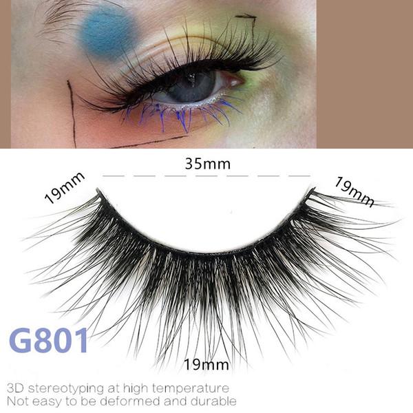 5pairs/set False EyeLashes 5 Pairs 3D Natural Long Fake Eyelashes G801 Handmade Makeup Tools Accessories
