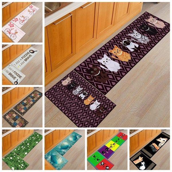 Acquista Tappetino Antiscivolo Cucina Ingresso Zerbino Da Cucina Moderna  Animali Domestici Tappeto Cucina Gatti A $42.14 Dal Starch | DHgate.Com