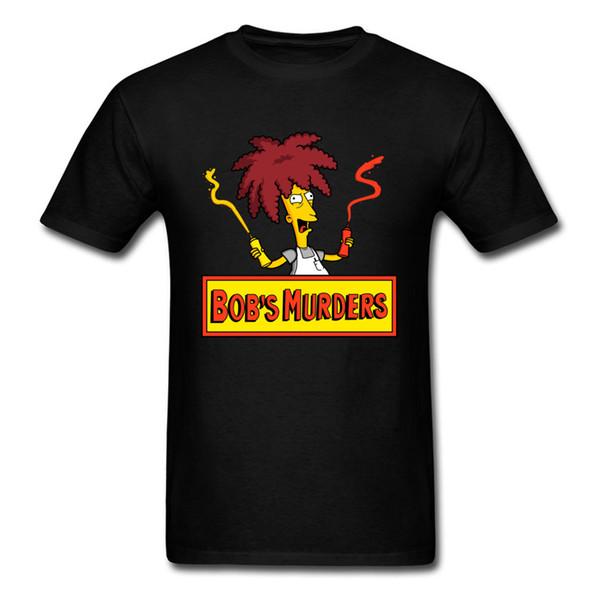 Bob's Murders T Shirt US Cartoon T-shirt Men Clothing Funny Ketchup Lover Tops Tees Cotton Tshirt Fitness