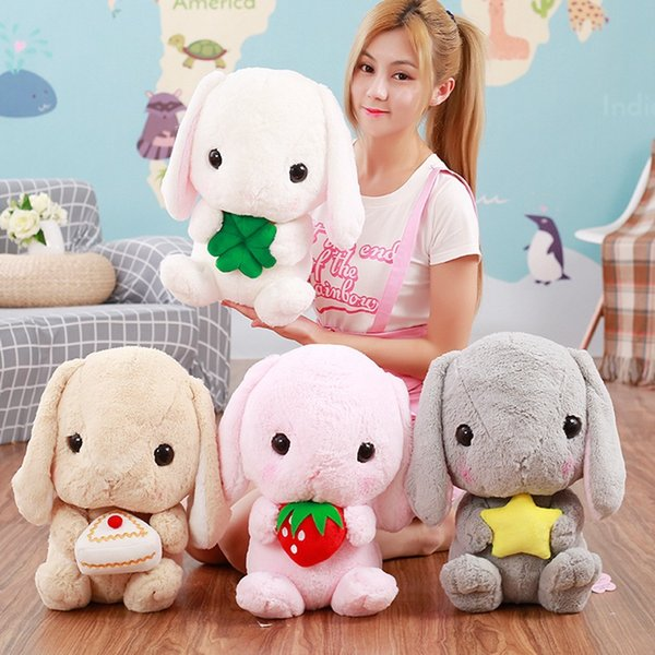 Cute White Rabbit Stuffed & Plush Animals Plush Animals Long Ear Rabbit Stuffed Dolls Send Female Birthday Gifts