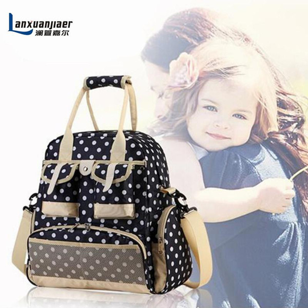 Wholesale-New Fashion Baby Diaper Backpack Shoulders Baby Maternity Mother Bag Baby Diaper Nappy Changing Bag Stroller Bag Multifunctional