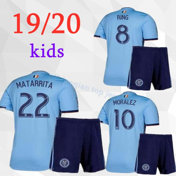 19/20 NYCFC New York City FC Fußballtrikots PIRLO MIX DAVID VILLA LAMPARD Auswärtstrikot Blue Maillot De Foot 2019 2020 Kinder Fußballtrikot