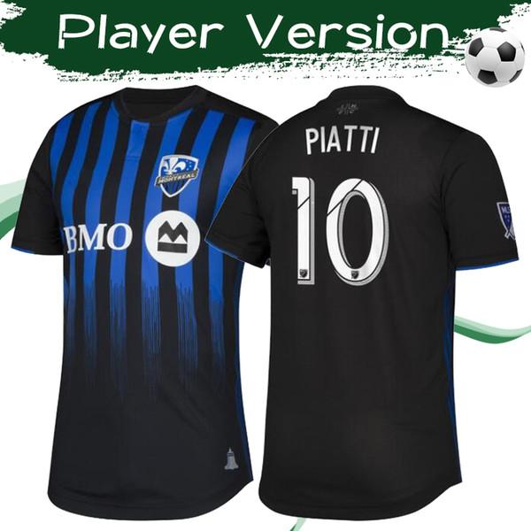 2019 Versión para jugadores MLS 20/20 Montreal Impact home Camisetas de fútbol Camisetas de fútbol de alta calidad Montreal home uniformes de fútbol negros En oferta