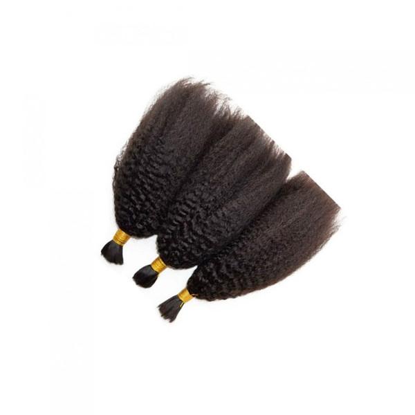 30inch бразильское Kinky Straight человеческих волос Для не Плетение Bulk Нет Bulk Attachment 100 Human плетение волос