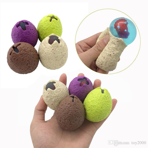 Anti Stress Dinosaur Egg Novelty Fun Splat Grape Venting Balls Squeeze Stresses Reliever Gags Practical Jokes Toy Funny Gadgets kids toys