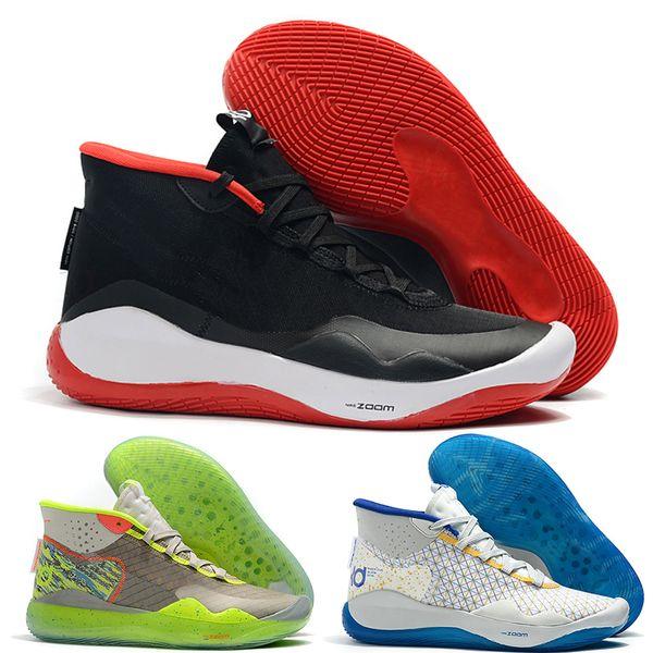 kevin durant kd 12 Tasarımcı Lüks erkek basketbol ayakkabı Zoom KD 12 XII MVP Elite Yıldönümü Üniversitesi Kırmızı Siyah Yeşil Mavi eğitmenler erkek sneakers boyut 7-12