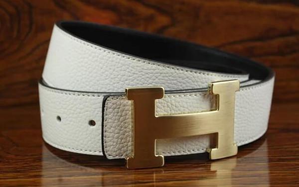 Männer Frauen Mode Schwarz Taille Gürtel Beliebte Design Unisex Echtes Leder Gürtel Hochwertige Jeans Casual Gürtel mit