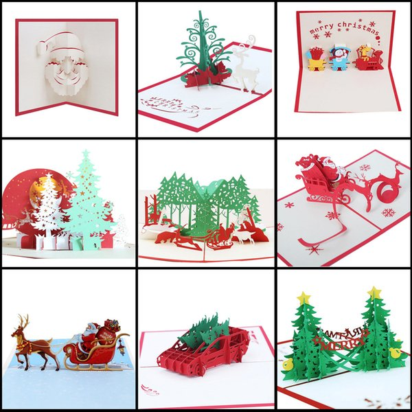 Details about 3D Pop Up Card Christmas Greeting Baby Gift Holiday Happy New 2018 New Arrival Hot Sale