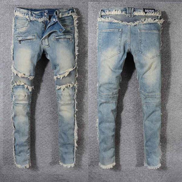 Mens Designer Jeans Fashion Burr patchwork motif Pantalon Trendy haut ST Marques Hommes Hiphop Casual Wear Jeans Hot Sale