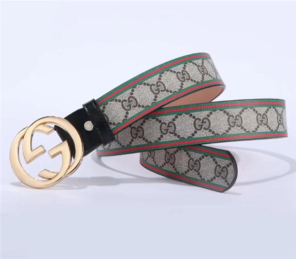 The new fashion item of 2020 is accessorized with high-quality decorative pattern lettered belts for men and women