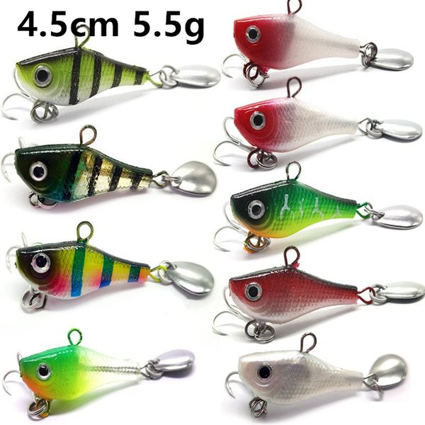 10Pcs Pencil Fishing Lures Fishing Tackle 8# Hooks Bass Baits 10 Colors