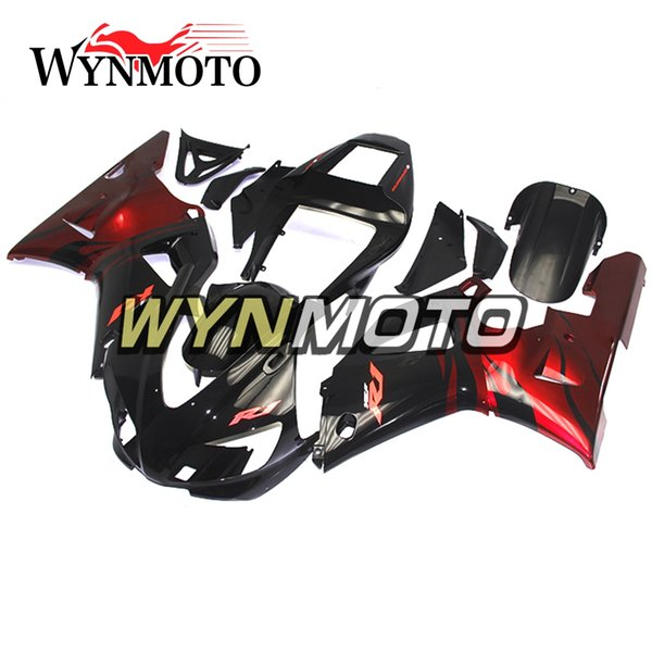 Complete Motorcycle Bodywork Candy Red Black Fairing For Yamaha YZF1000 R1 1998 1999 Complete Bike Body Frames R1 98 99 Panels Full Covers