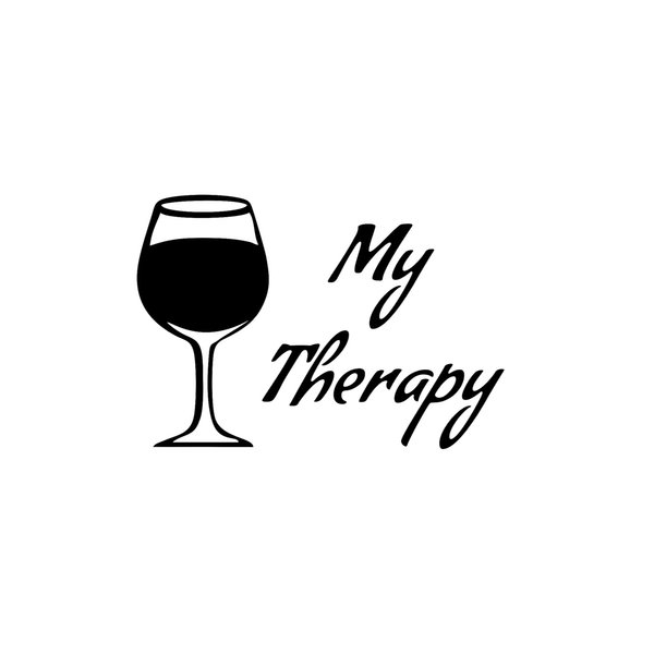 My Therapy Wine Fashion Personality Creativity Classic Attractive Glass Marathon Runners Motorcycle