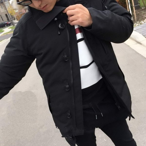 New Winter Long Down Parkas Button Men Hooded Jacket Designer Thicked Down Man Fashion Outwear Coat Outdoor Warm Male Coats Online