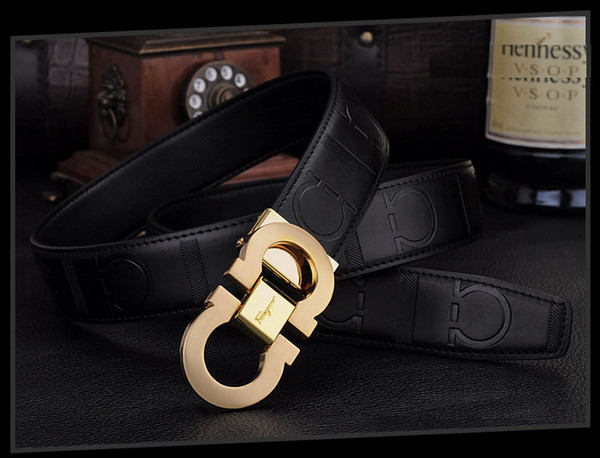 New Fashion Designer Belts for Men Sliding Buckle Ratchet Luxury Leather Men Belt Automatic ceinture homme