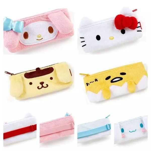 Cartoon Gudetamas My Melody Kitty Cinnamoroll Pudding Dogs Zipper cosmetic bags makeup bag phone bag women travel organizer