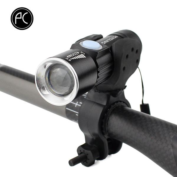 Pcycling biciclette 2000 Lumen ricaricabile USB frontale Mtb Bike della luce dello zoom Torcia impermeabile Batteria incorporata C19041301