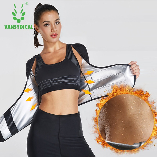 Vansydical Mulheres Sweat Sport Top Fitness Mulheres Ginásio Camisa Correndo Sportswear Trainer Cintura Shaper Do Corpo Ginásio Top Shapewear