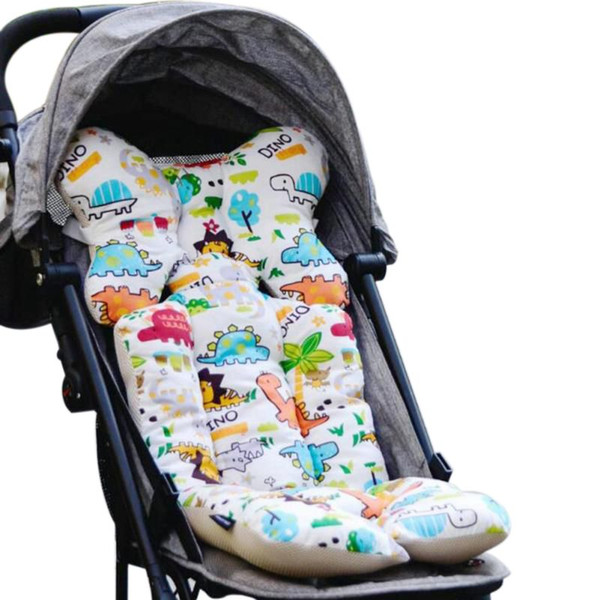 Baby Printed Stroller Pad Seat Warm Cushion Pad mattresses Pillow Cover Child Carriage Cart Thicken Trolley Chair CushionA