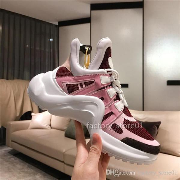 Los diseñadores de la plataforma de lujo barato Hombres Mujeres Zapatos Casual barato mejor partido a zapatillas de deporte zapatos de calidad Arco Ruta Chaussures zapatillas de deporte