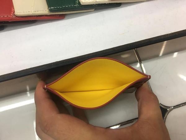 Brand New Luxury Ramassage Sac Hommes Femmes de carte de crédit Porte-Coated Toile avec cuir véritable Pocket Mini Porte-monnaie avec la boîte