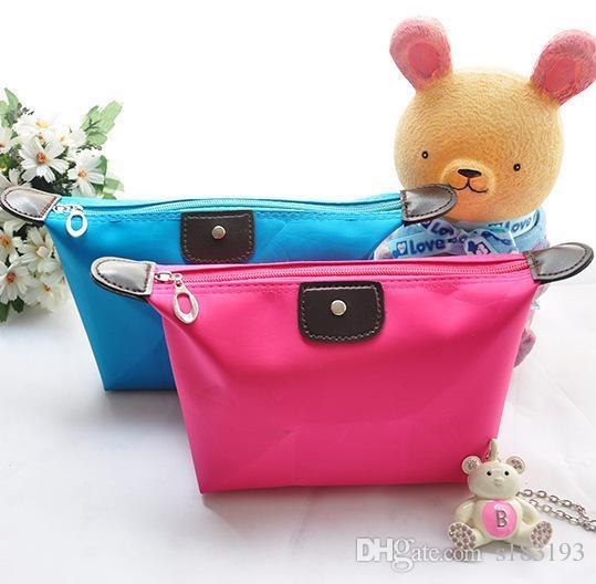 10 Renkler şeker renk seyahat makyaj çantası kadın Lady kozmetik çantası Debriyaj Çanta Takı organizatör toptan ve perakende