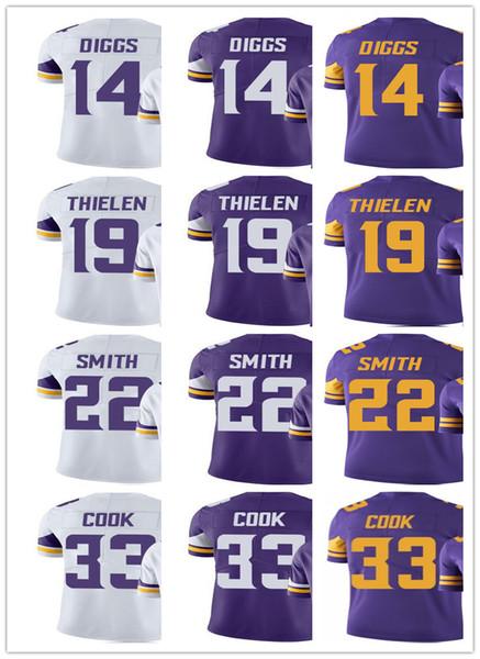 new concept efba3 be9f5 2019 Minnesota Men Women Youth Vikings Jersey #33 Dalvin Cook 14 Stefon  Diggs 22 Harrison Smith 19 Adam Thielen Vapor Limited Jerseys From ...